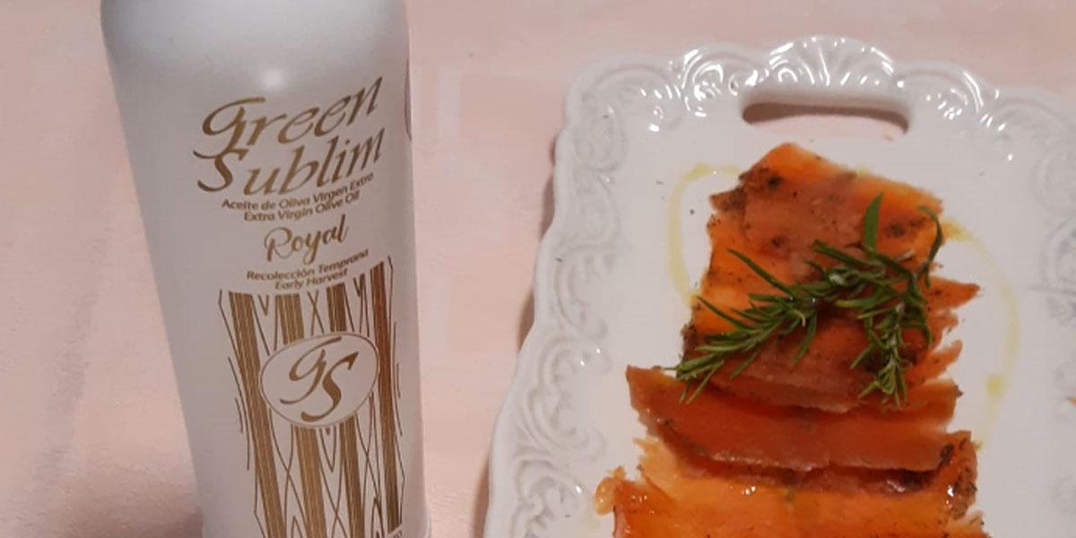 receta de tostas de salmón marinado con aove